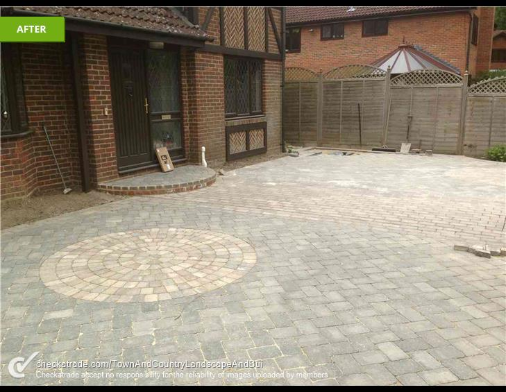 Block Paving Driveway in East Grinstead